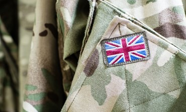 Union Jack on Army uniform