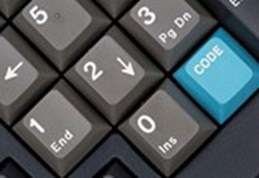 Detail of computer keyboard