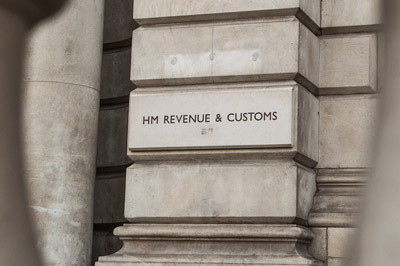 HMRC entrance sign