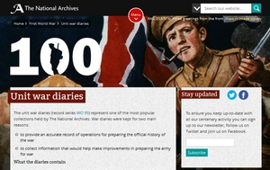 The First World War diaries, available on the National Archives website
