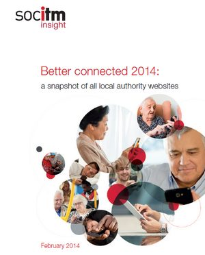 The cover of Better Connected 2014: a snapshot of all local authority websites.