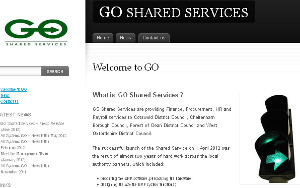 Green means go for more partnership: The GO Shared Services home page