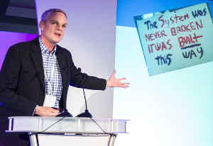 Mark Thompson addresses last month's Socitm annual conference in Manchester - by Dods / Socitm