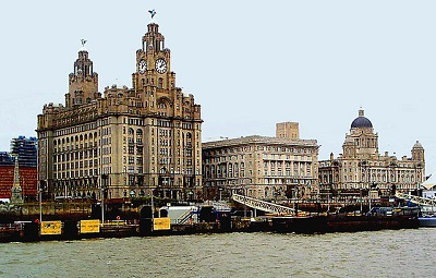 Liverpool skyline from river