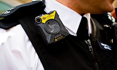 Axon camera on Met Police officer's chest