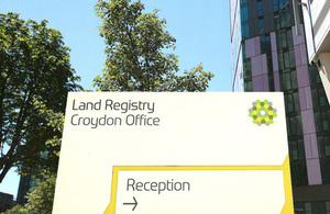 Land Registry sign