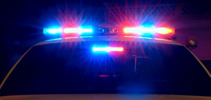 Police car lights