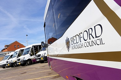 Side of Bedford Council bus