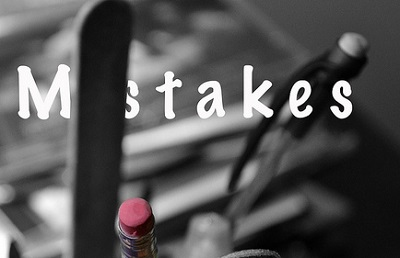 'Mistakes' written over photo of pens