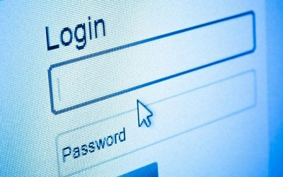 Login and password function on screen
