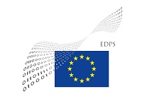 EDPS logo - wings from binary code on EU flag