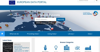 European Data Portal screenshot