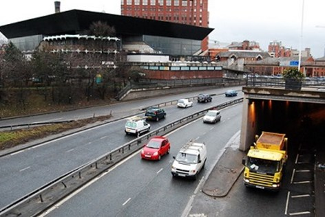 Traffic on Leeds inner ring road