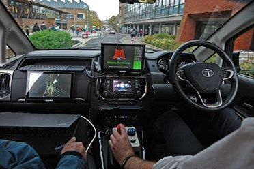 Dashboard and steering wheel of autonomous vehicle
