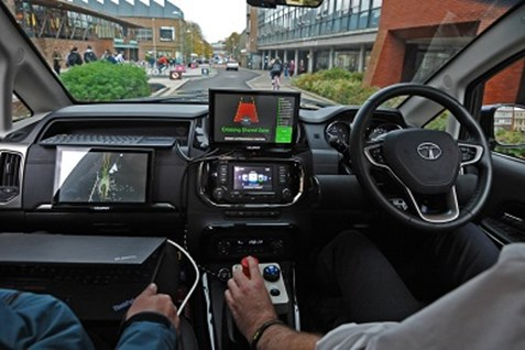 Dashboard of self-driving care