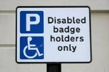 Blue Badge parking sign