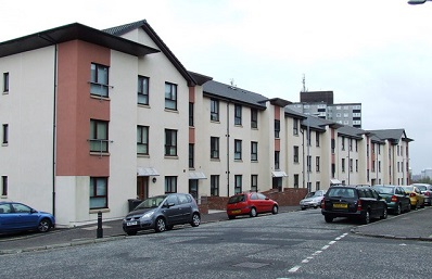 Row of council houses