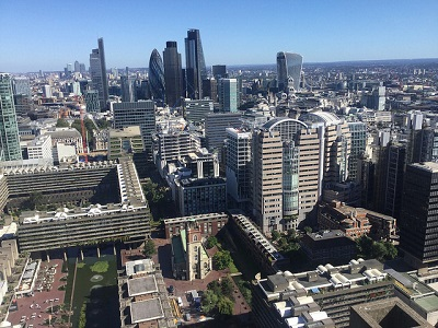 City of London arial view