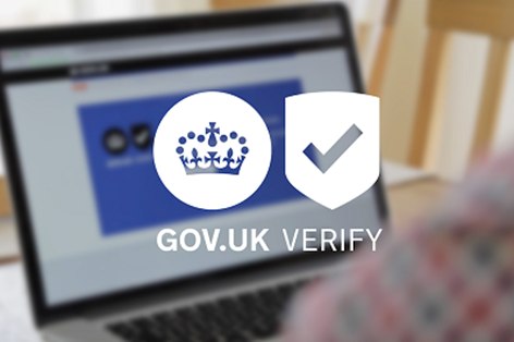 Verify logo imposed on computer screen