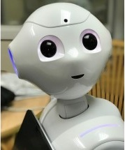 Cute robot's face