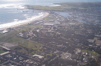 Aerial view of Aberdeen