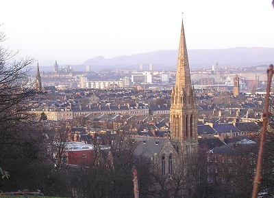 Glasgow seen from hill