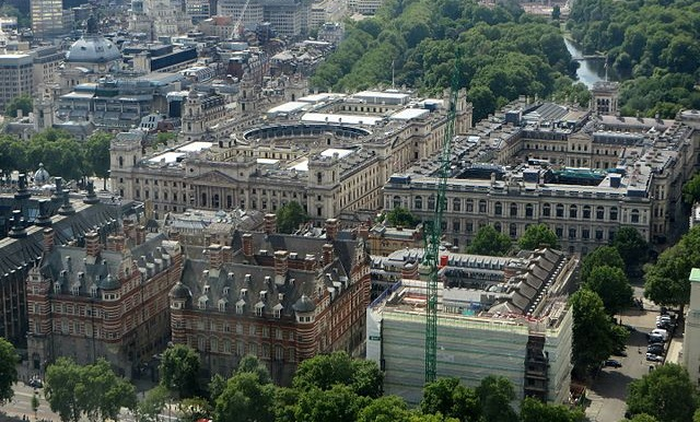 Whitehall from London Eye