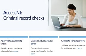 Screenshot of AccessNI home page