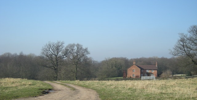Lone house in countryside