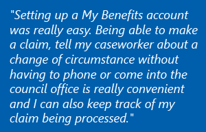 Feedback from a 'My Benefits' user