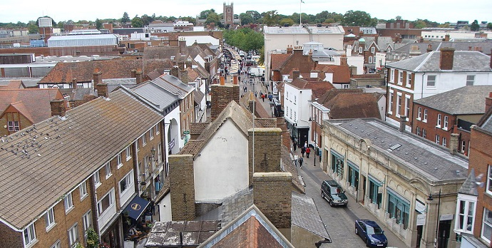 St Albans from Clock Tower
