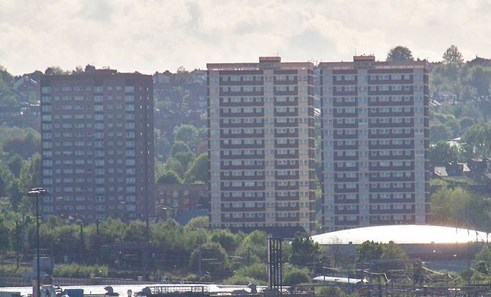Tower blocks of flats