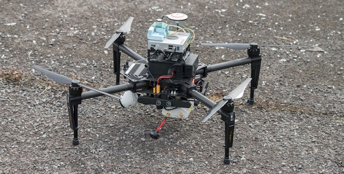 Drone on ground - Crown copyright, Open Government Licence v3.0.jpg