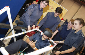 RAF cadets on cyber training