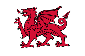 Welsh dragon red banner by Llywelyn2000, CC BY-SA 4.0 from Wikimedia.png
