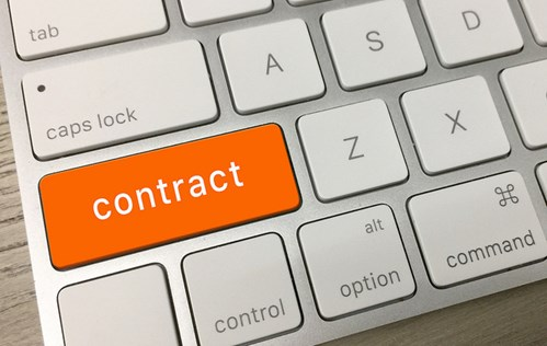 Contract key on keyboard