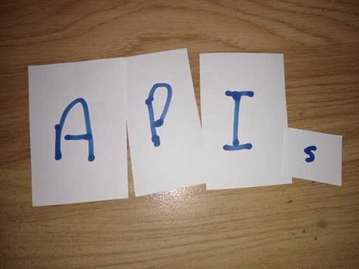 APIs written on four pieces of paper