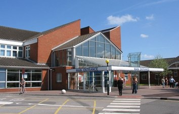 Entrance to Chesterfield Royal Hospital