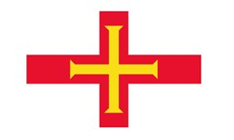 Flag of Guernsey - yellow cross on red cross