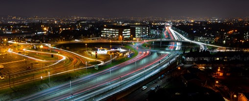 West Bromwich Expressway at night