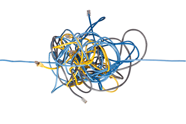 Digital cables in a tangle