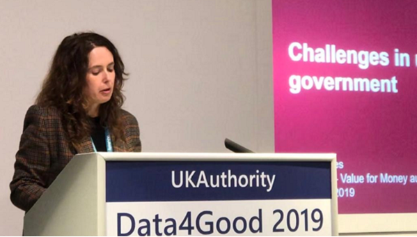 Sian Jones NAO at Data4Good 2019