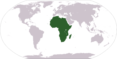 Africa on world map