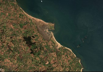 Earth Observation view of north-east England