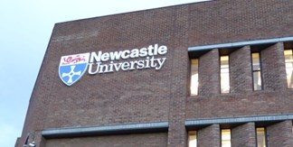 Newcaste University sign on building
