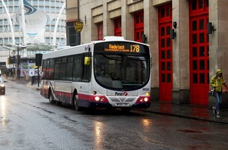 First Bus by DSH Transport CC BY 2.0.jpg